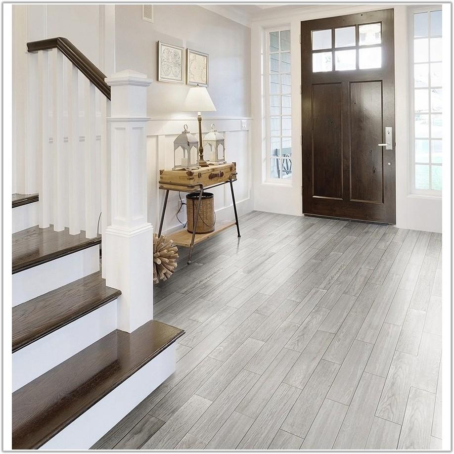 White Wood Look Porcelain Tile