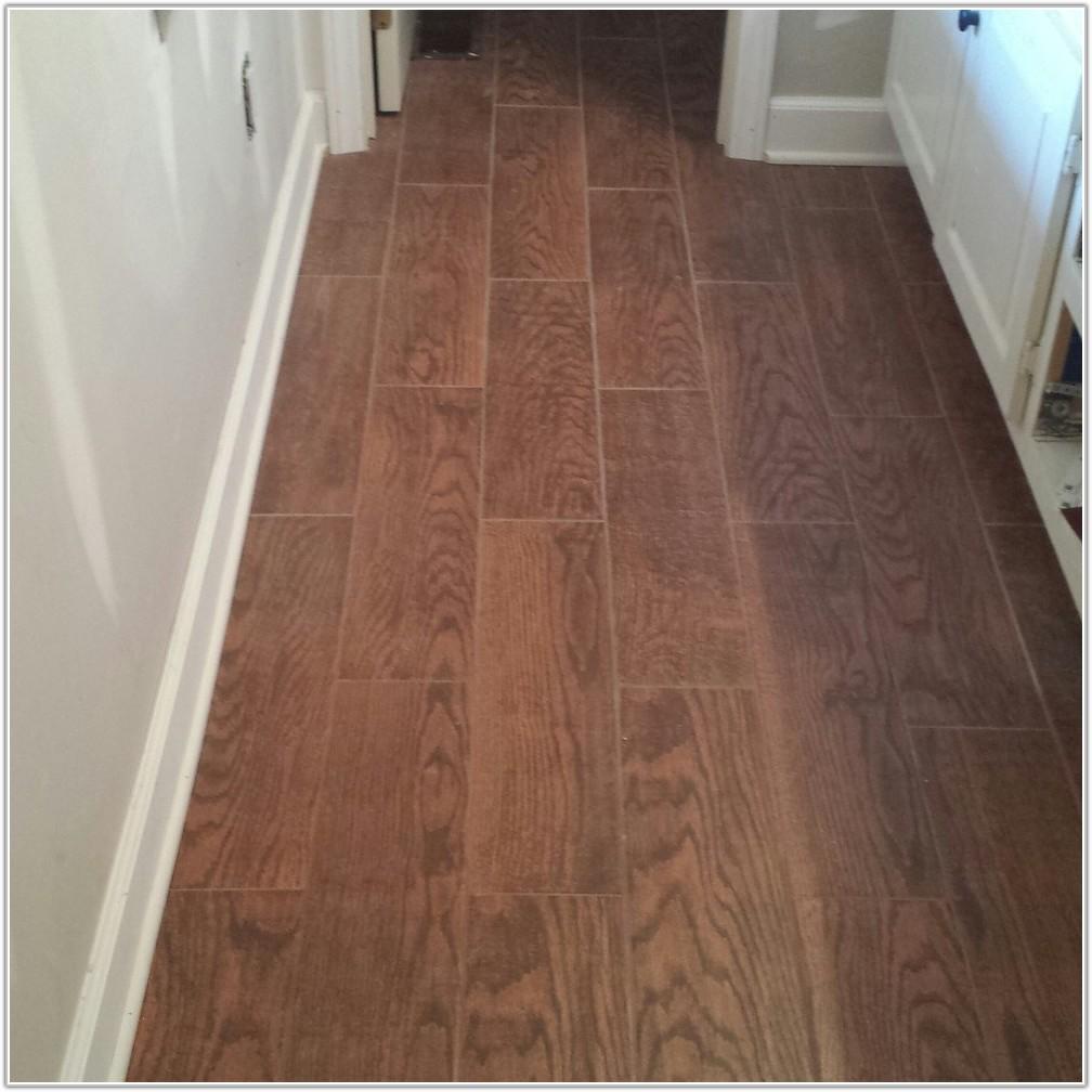 Wood Look Ceramic Tile Kitchen