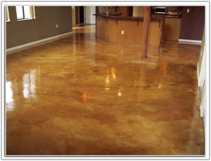 Acid Stain Concrete Garage Floor