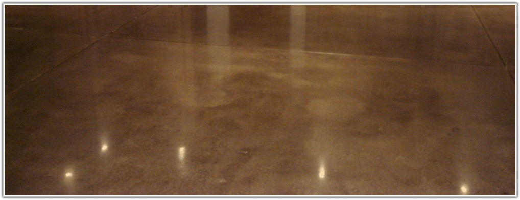 Acid Stained Polished Concrete Floor