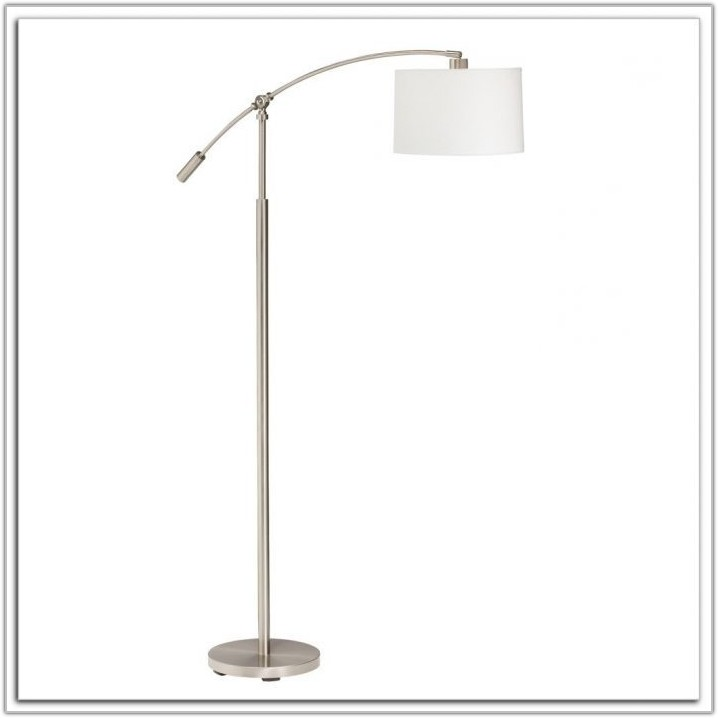 Allen Roth Floor Lamp Brushed Nickel