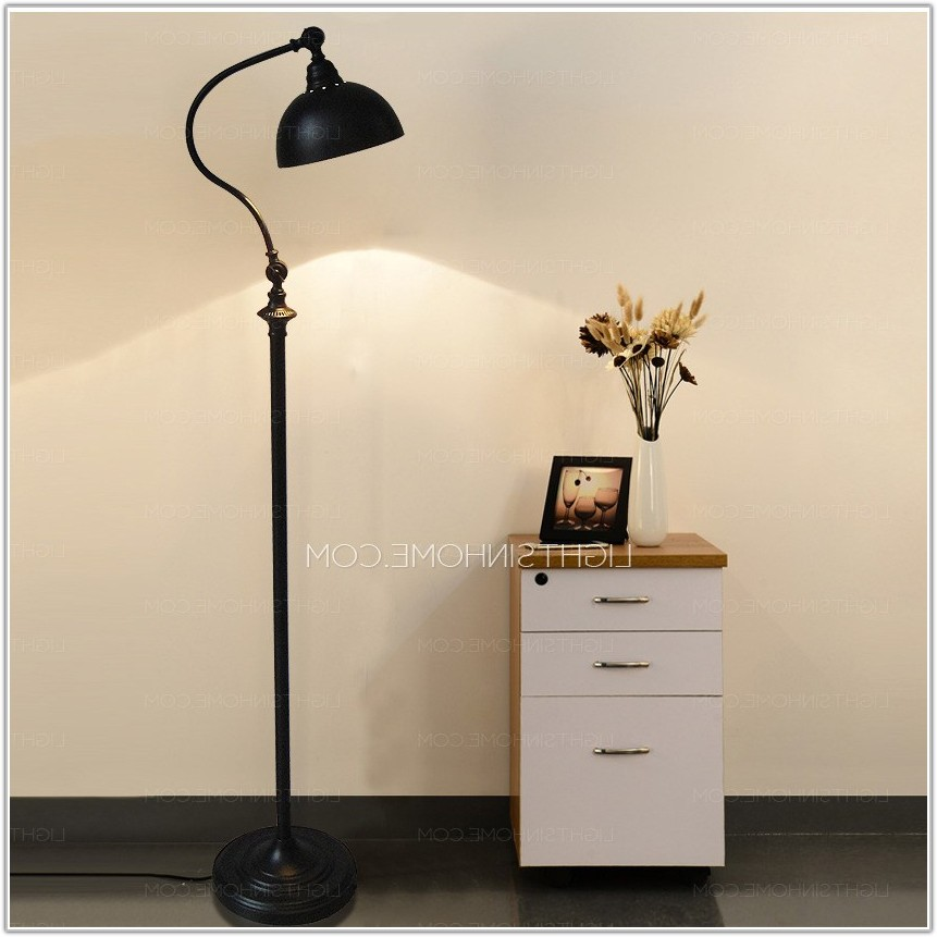 Black Wrought Iron Floor Lamps