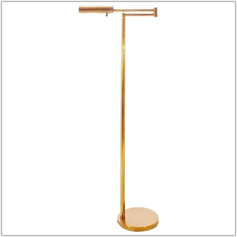 Brass Swing Arm Floor Lamp