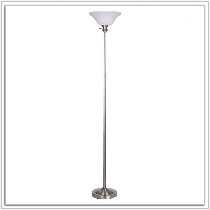 Brushed Nickel Floor Lamp With Table