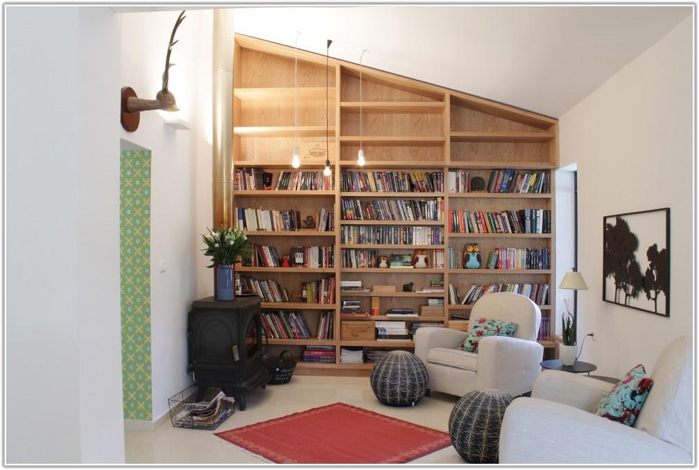 Built In Floor To Ceiling Bookshelves