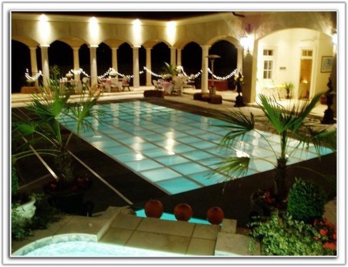 Clear Pool Cover Dance Floor