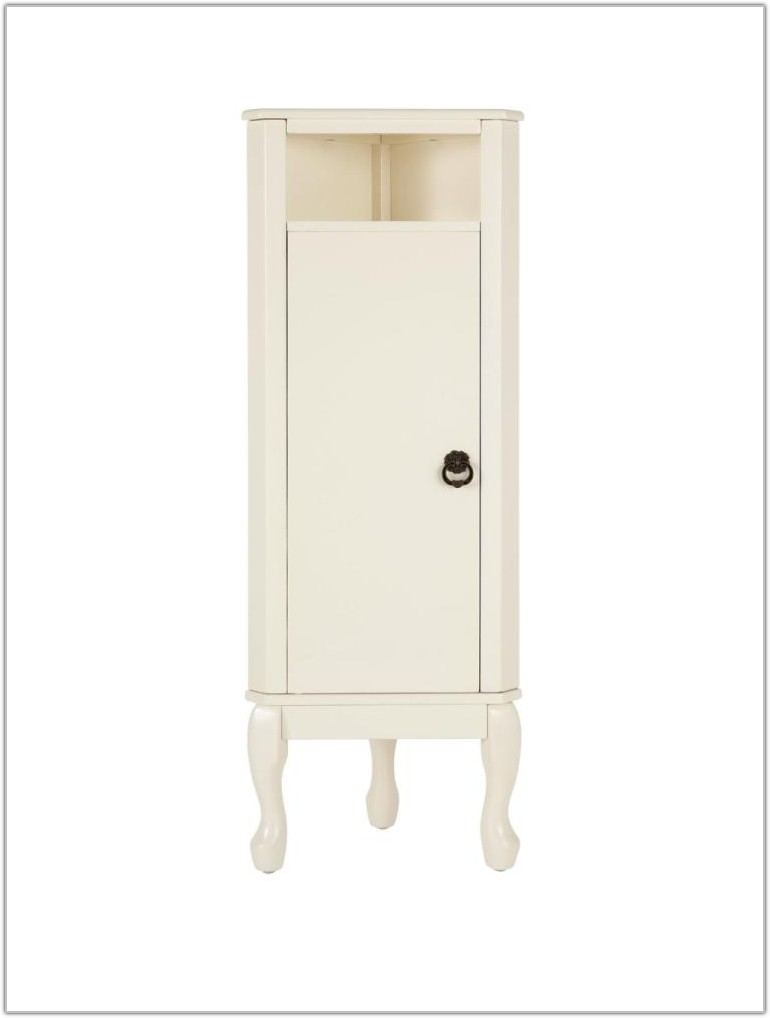 Corner Bathroom Floor Cabinet