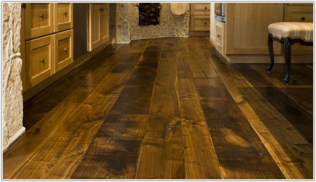 Dark Wide Plank Wood Flooring