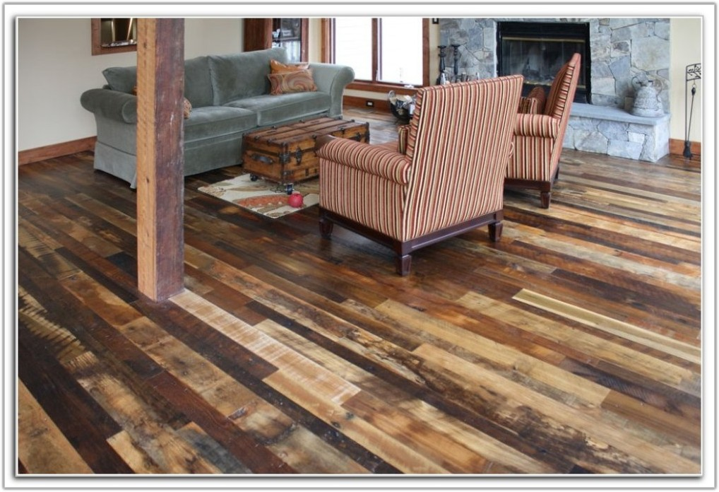 Distressed Wide Plank Pine Flooring