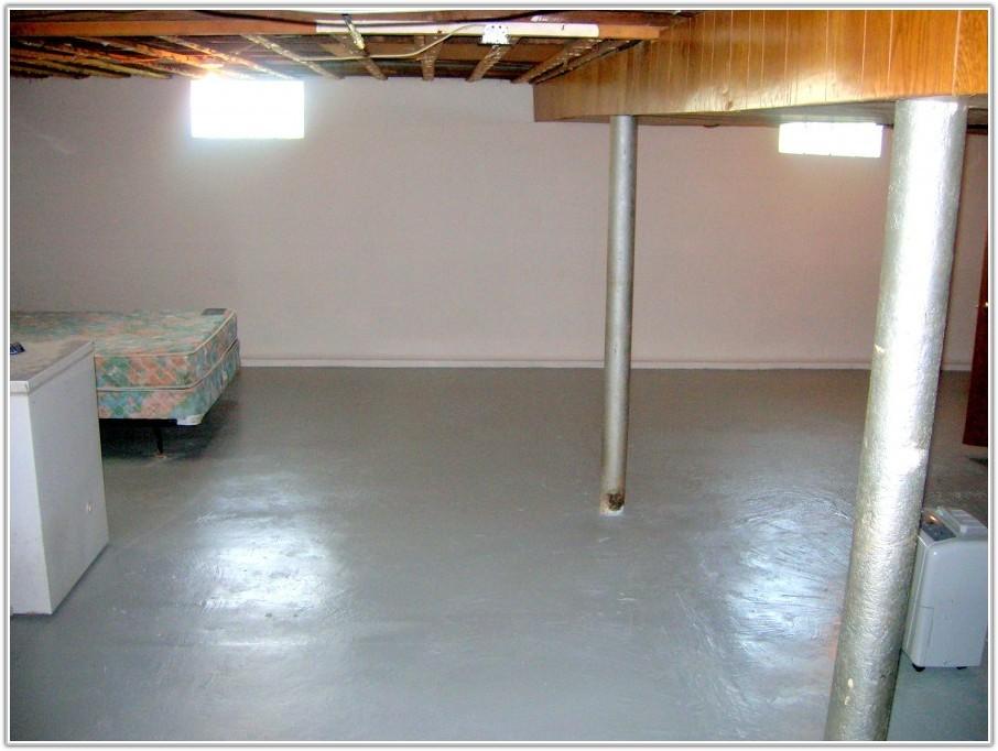 Epoxy Paint Concrete Basement Floor