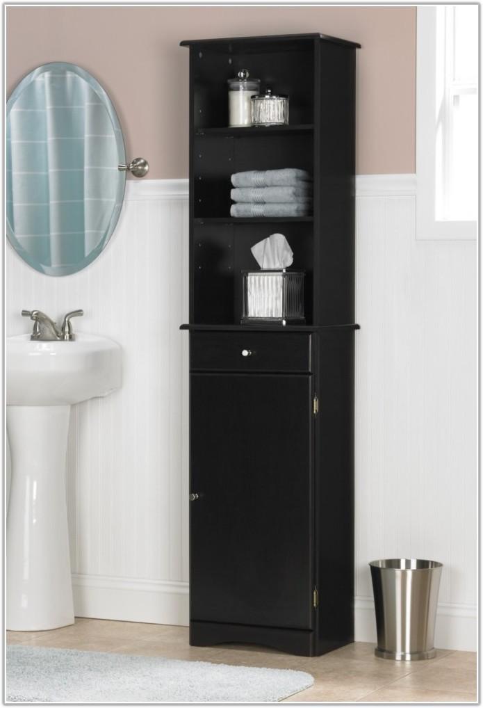 Espresso Bathroom Floor Cabinet