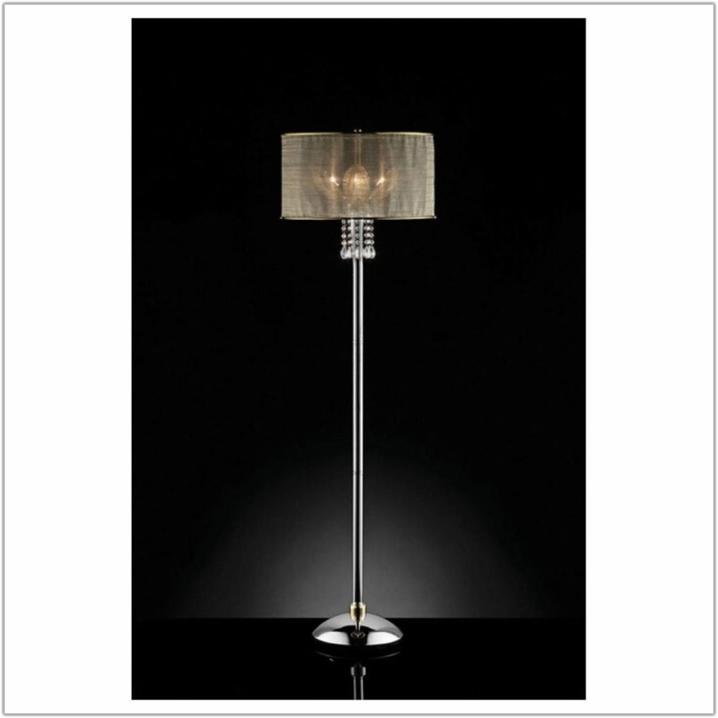 Floor Lamp With Hanging Crystals