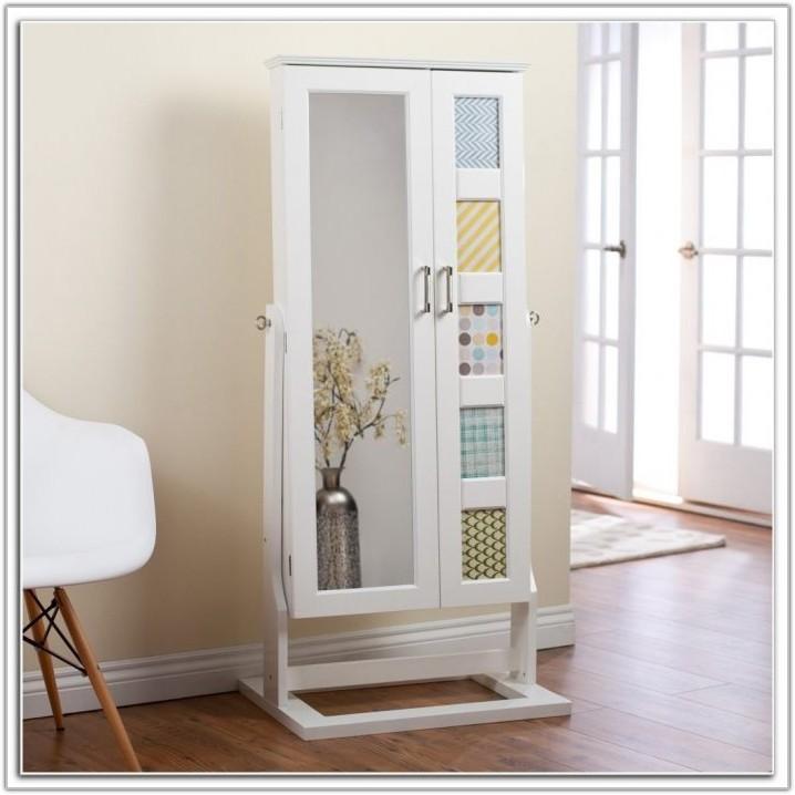 Floor Mirror Jewelry Cabinet