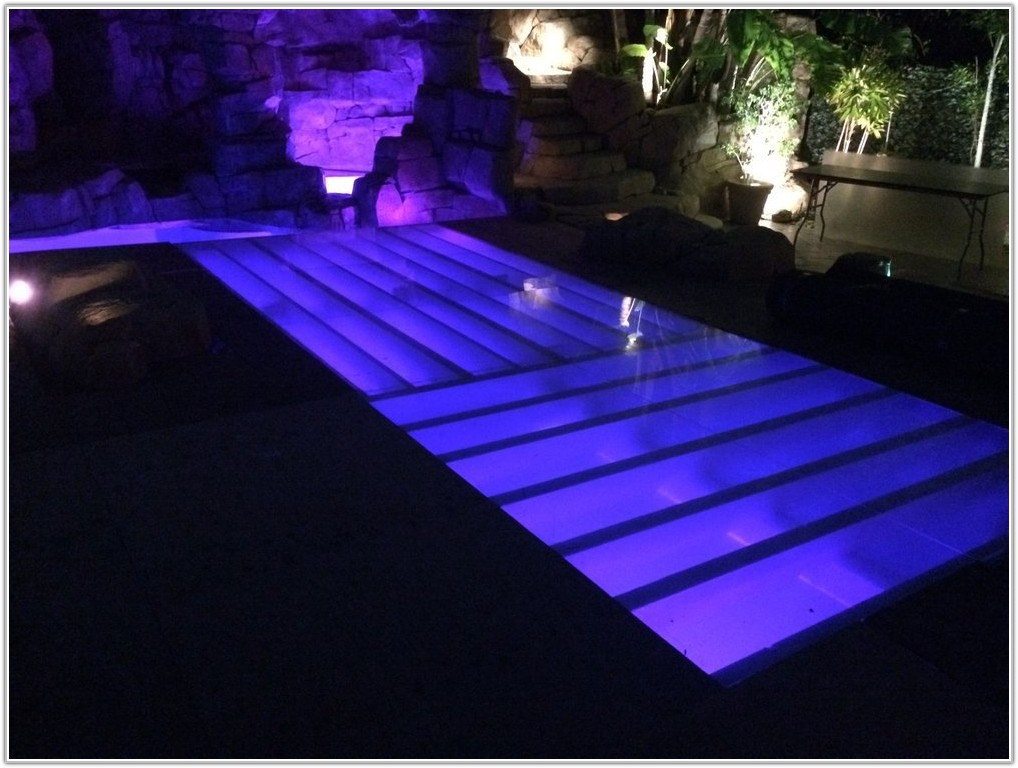 Glass Pool Cover Dance Floor