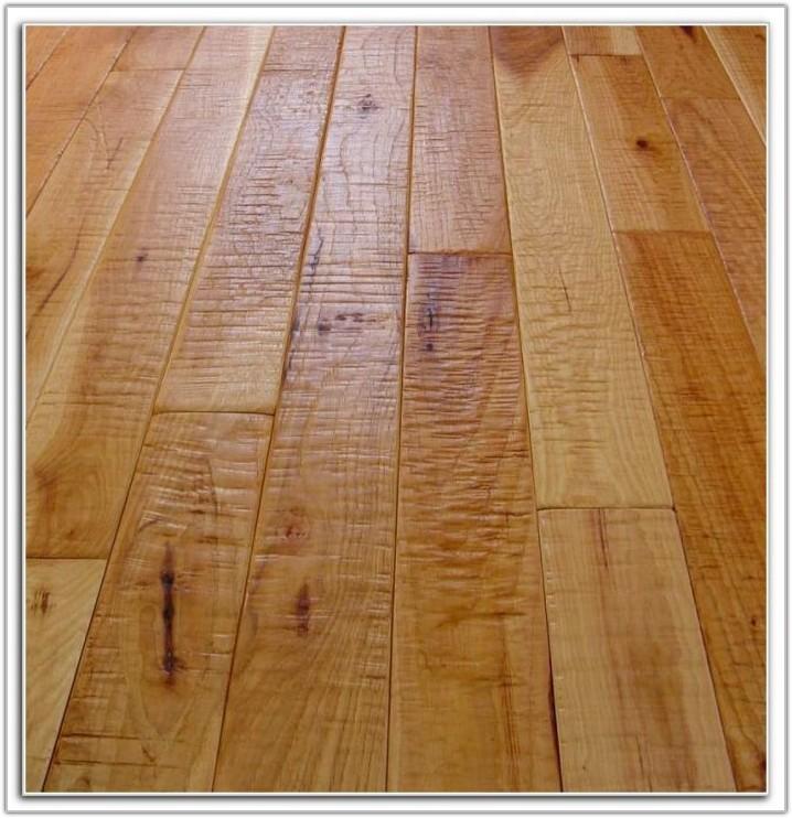 Hand Scraped Natural Hickory Flooring