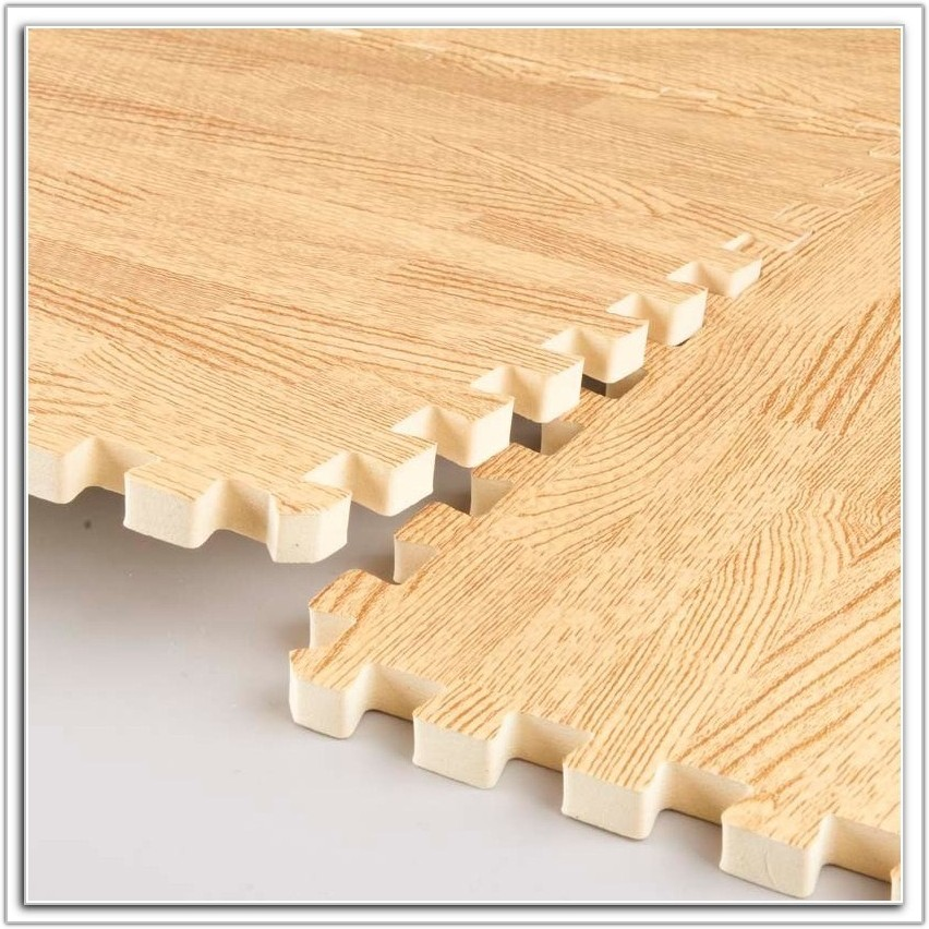Interlocking Foam Floor Mats Wood Grain