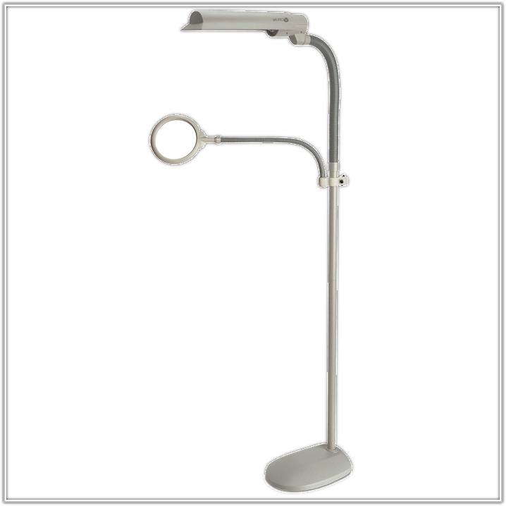 Lamp With Magnifier Floor Standing