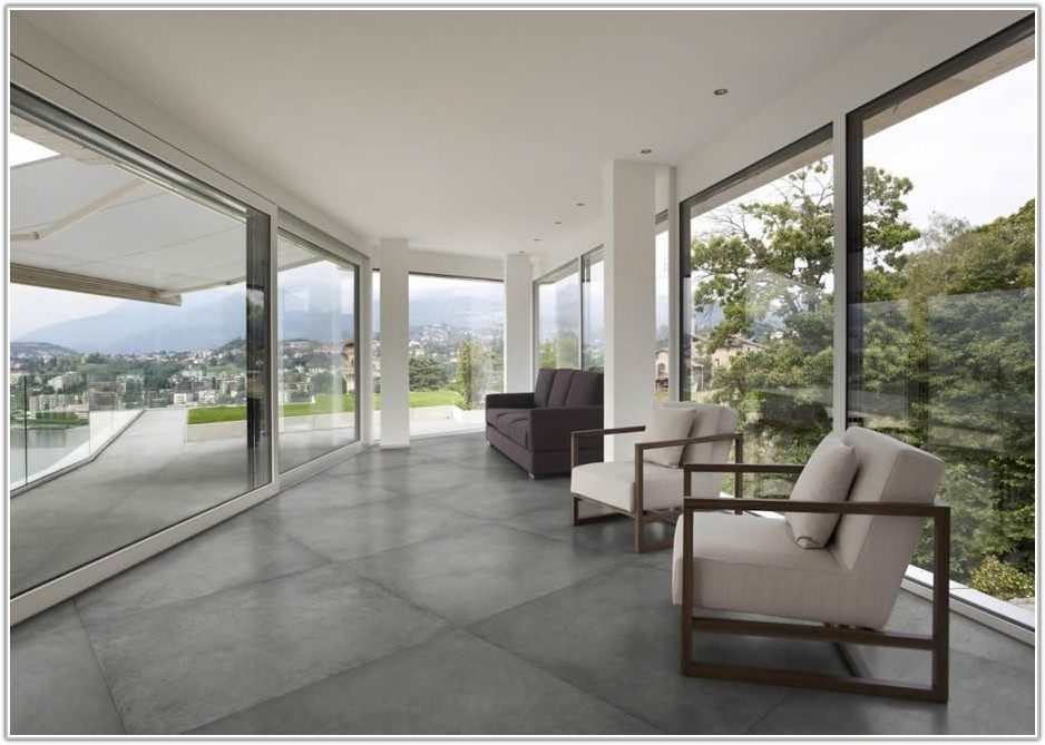 Large Concrete Tiles Floor