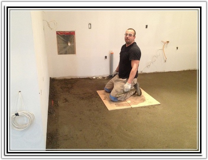 Leveling A Concrete Floor With Thinset