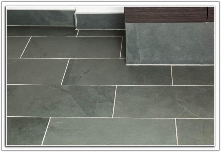 Light Grey Slate Floor Tiles