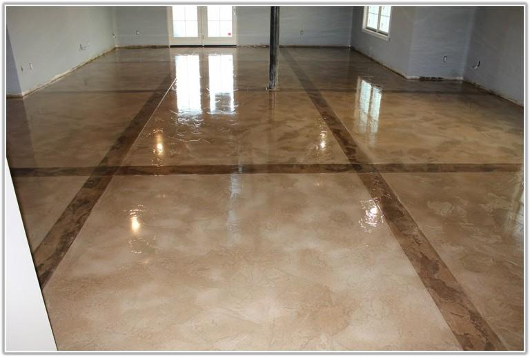 Metallic Marble Epoxy Flooring Basement Floor