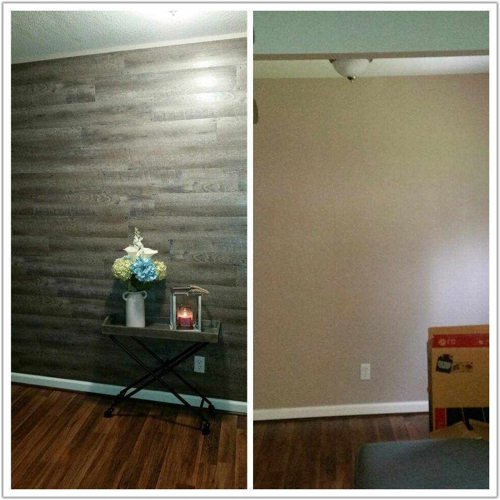 Peel And Stick Floor Planks On Wall