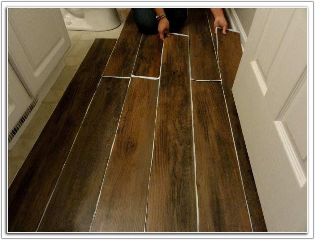 Peel And Stick Wood Look Plank Flooring