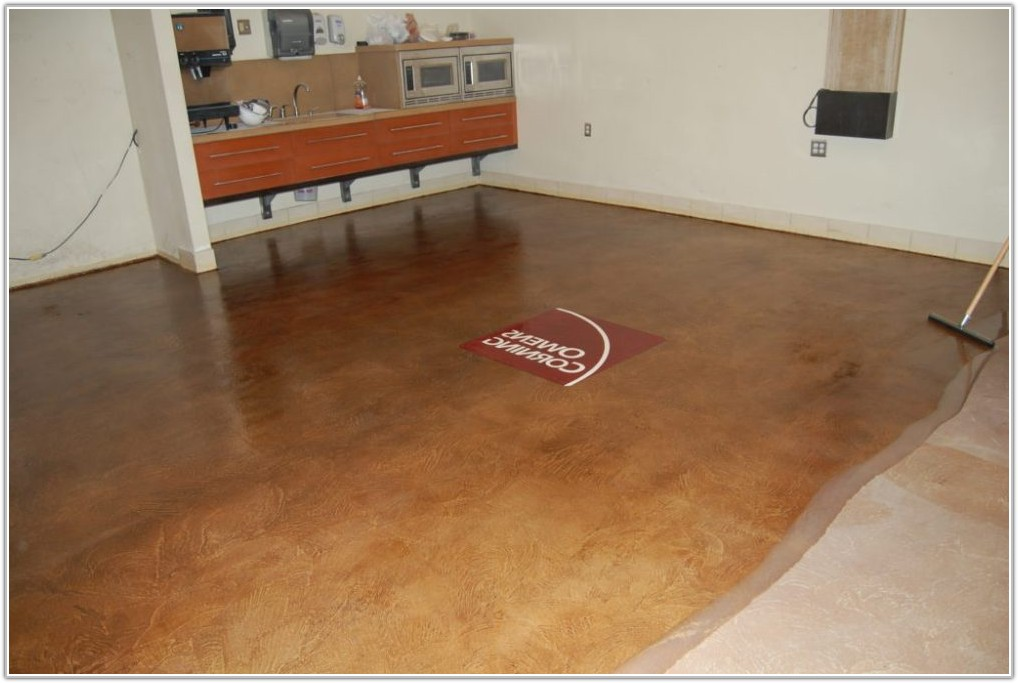 Sealing Stained Concrete Floors