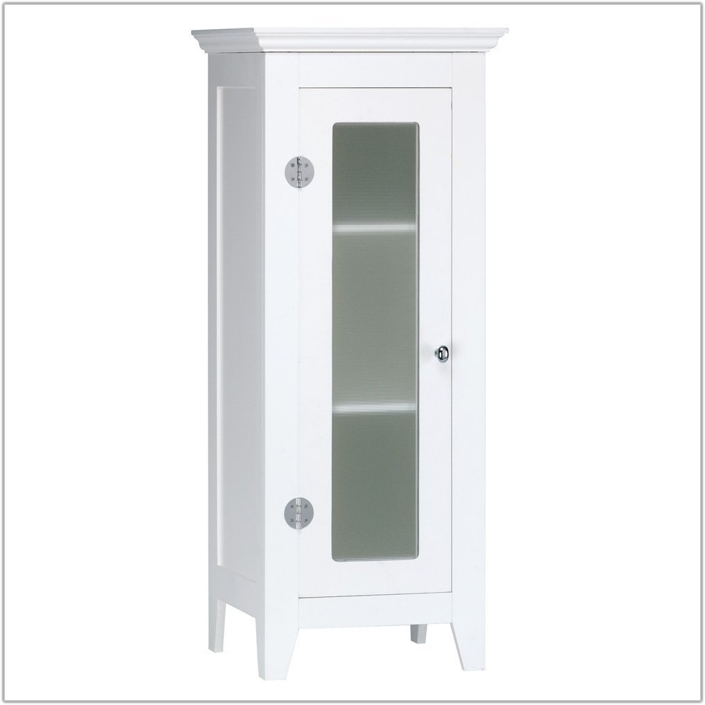 Small Bathroom Floor Cabinet White
