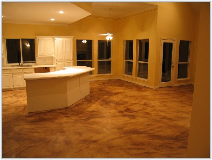 Stained Concrete Basement Floor Ideas