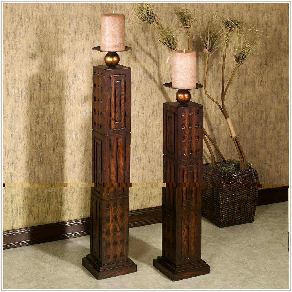 Tall Floor Standing Candle Holders