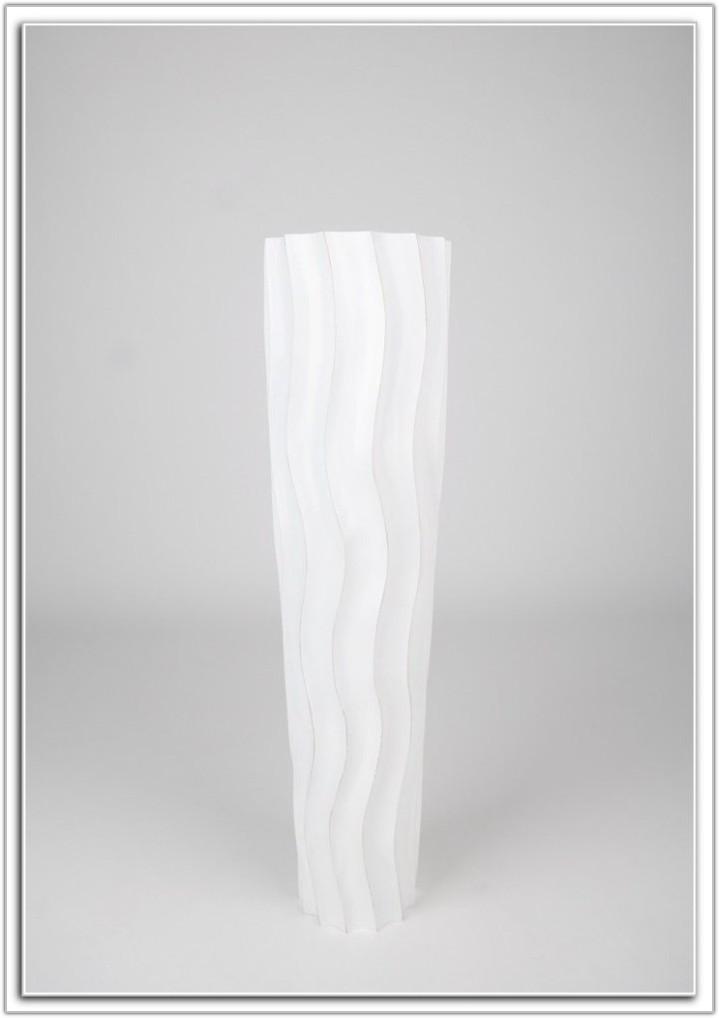 Tall White Floor Vase