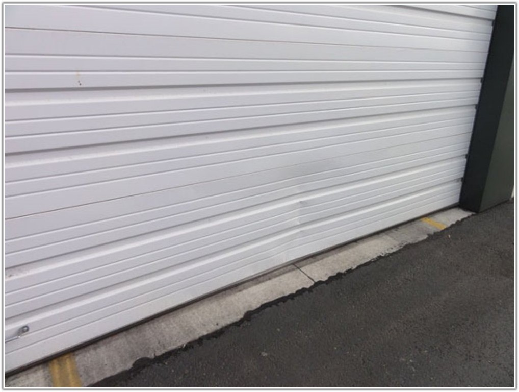 Uneven Garage Floor Door Seal