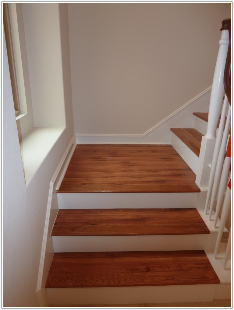 Vinyl Wood Plank Flooring On Stairs