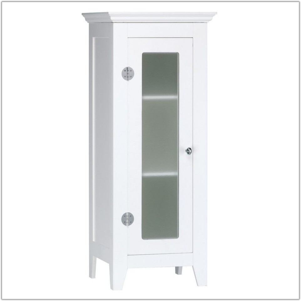 White Bathroom Floor Cabinet With Drawers