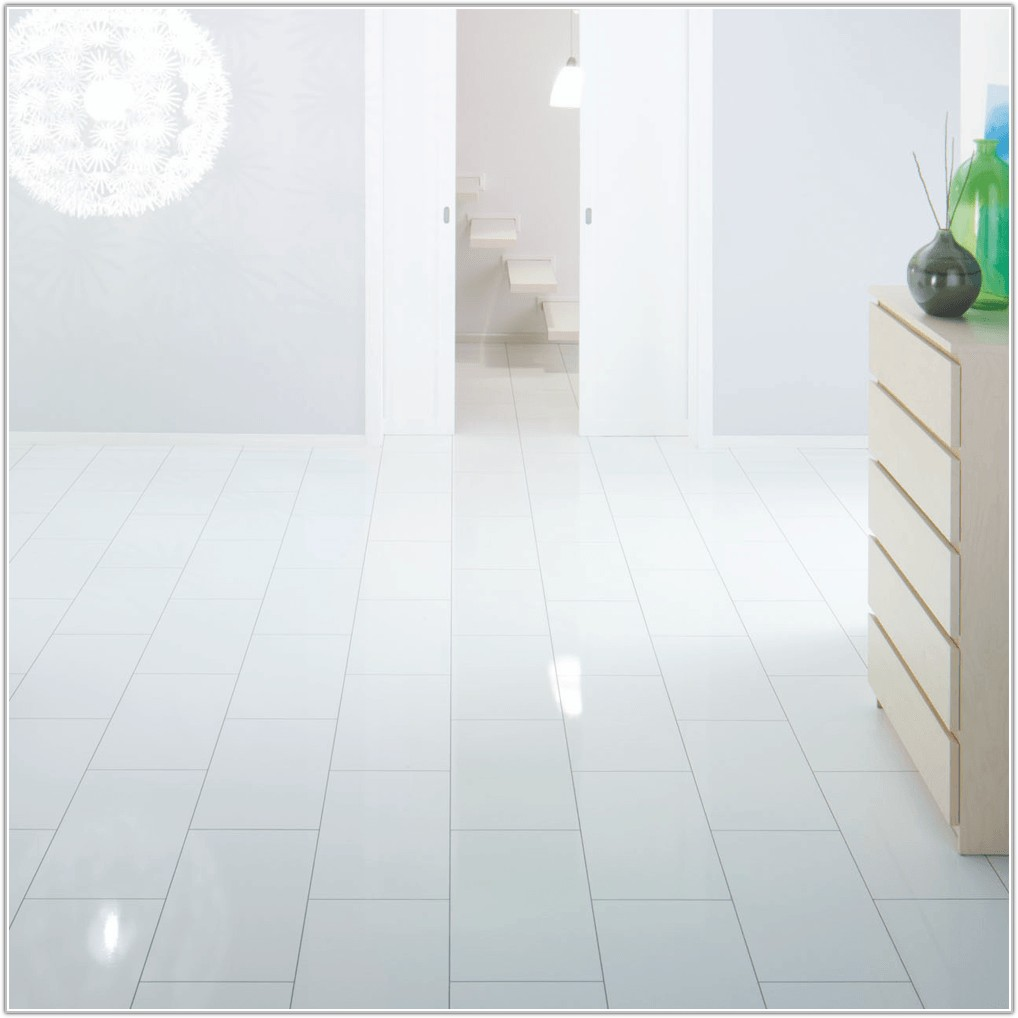 White High Gloss Laminate Flooring