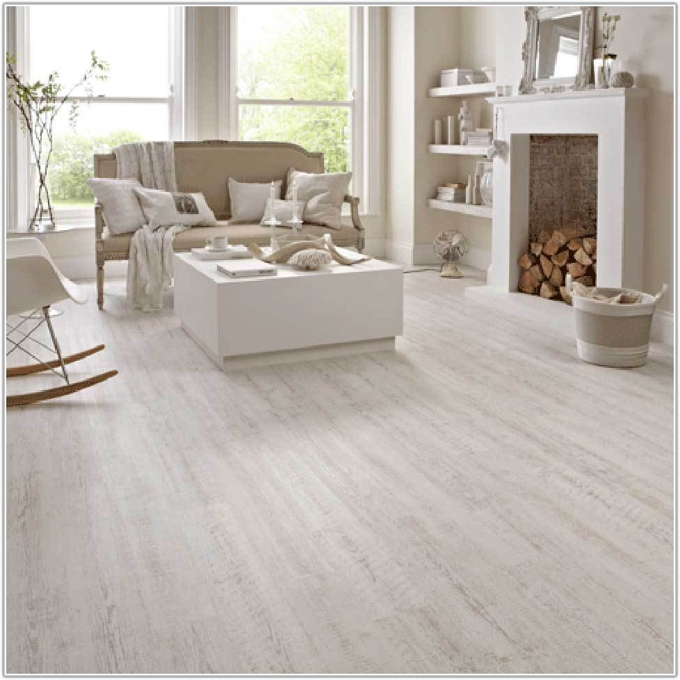 White Washed Vinyl Plank Flooring
