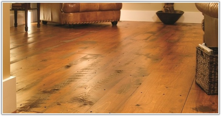 Wide Plank Distressed Wood Flooring