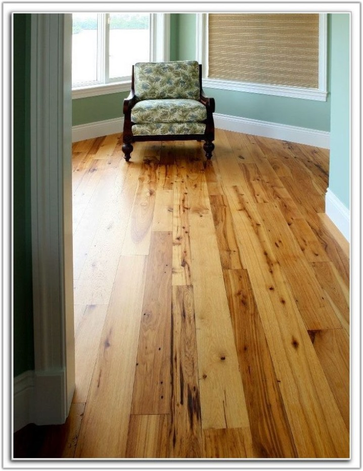 Wide Plank Hickory Flooring Photos