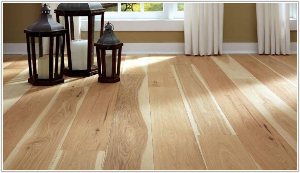 Wide Plank Natural Hickory Flooring