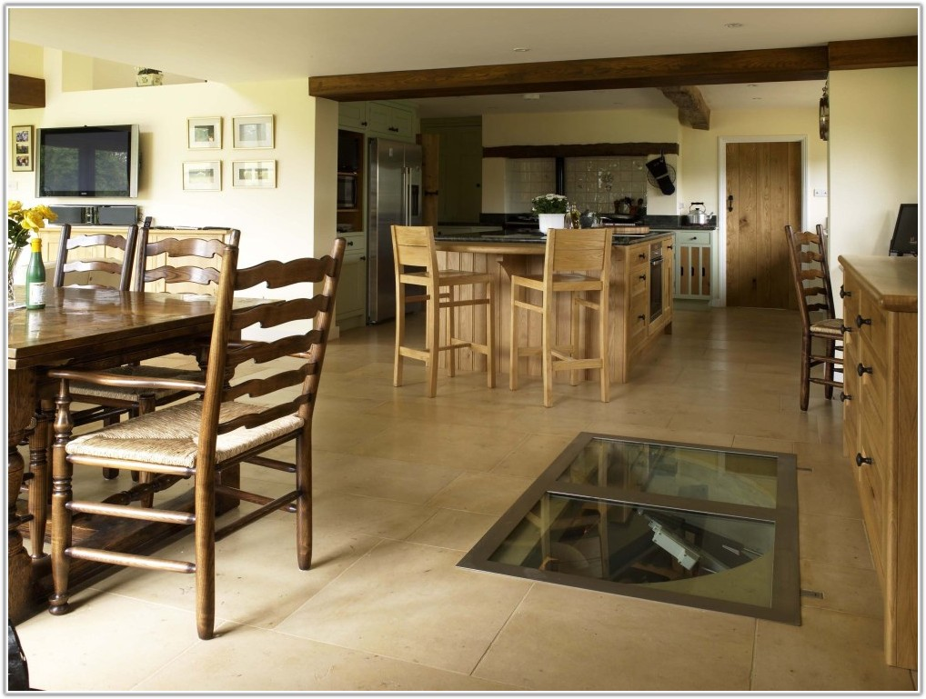 Wine Cellar In Floor Of Kitchen