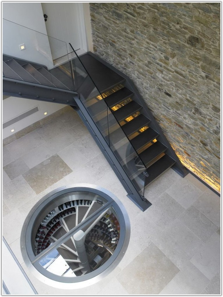 Wine Cellar In Floor Spiral