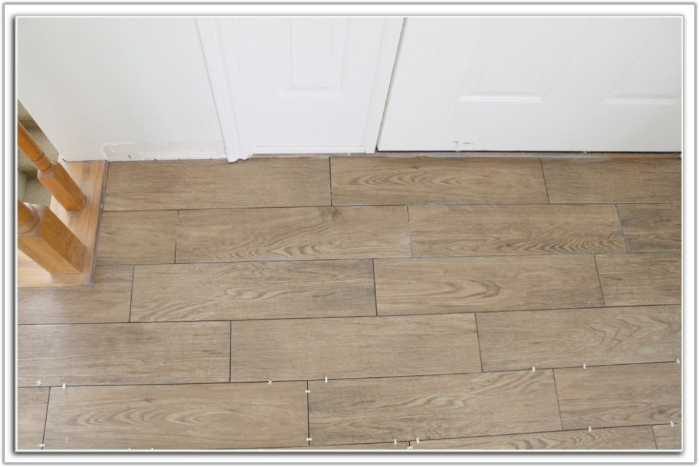 Wood Plank Tile Floor Pattern