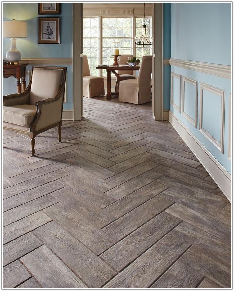 Wood Plank Tile Flooring