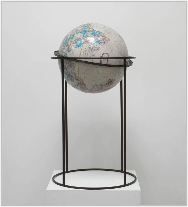 World Globe On Floor Stand