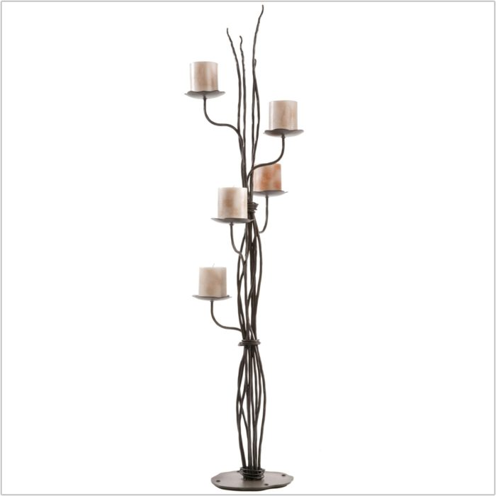 Wrought Iron Candle Holders Floor Standing