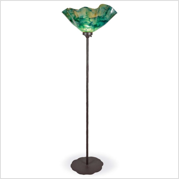 Wrought Iron Torchiere Floor Lamp