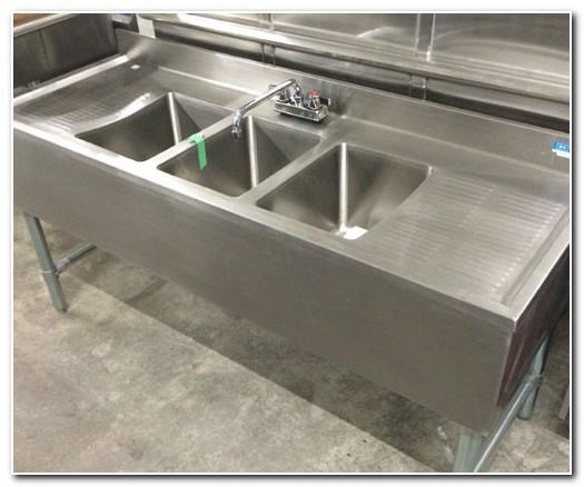 3 Bay Bar Sink Used