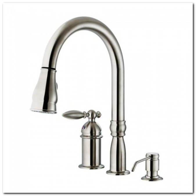 3 Hole Kitchen Faucet With Sprayer