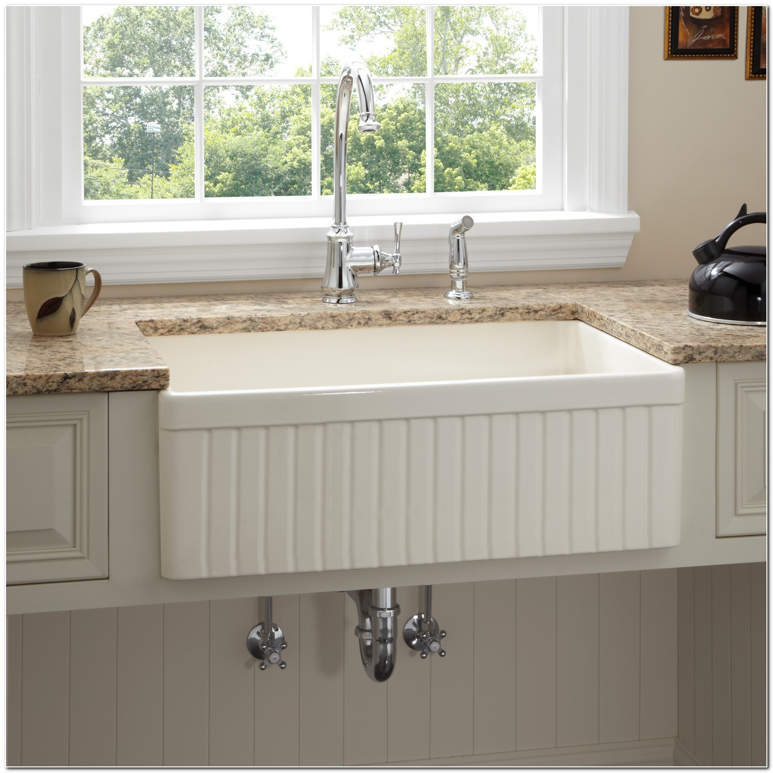 30 Fireclay Apron Front Sink